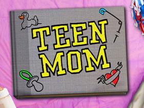 Logo for Teen Mom on MTV