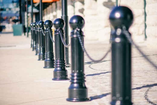 Bollards at Oriole Park