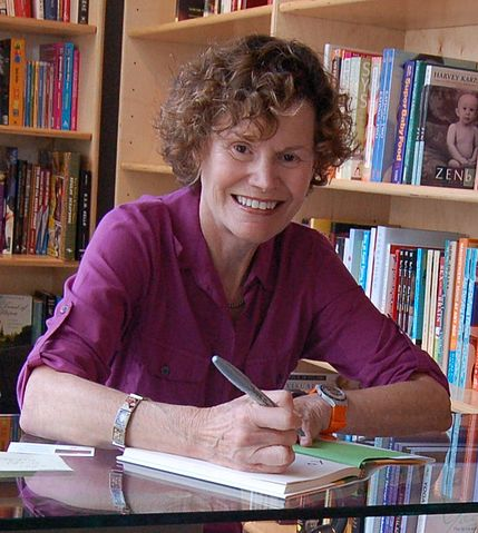 Judy Blume in 2009 Photo by Carl Lender via Wikimedia Commons
