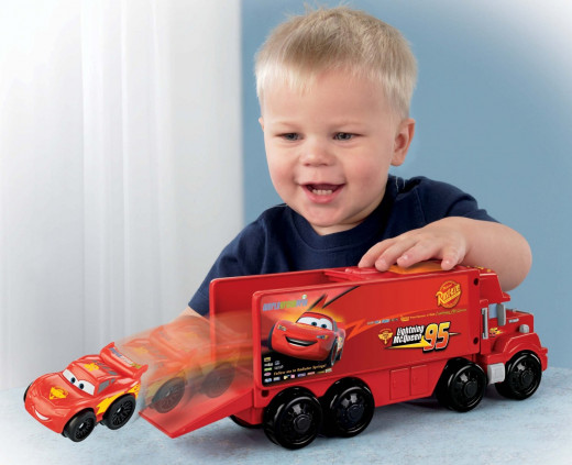 Lightening McQueen launches into action