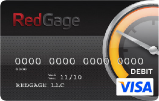 RedGage Visa card