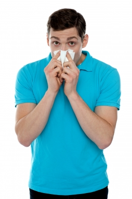Young Man with Common Cold