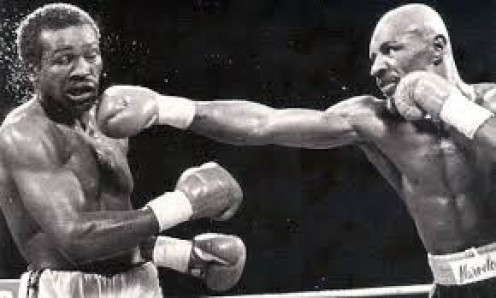 Marvelous Marvin Hagler used his southpaw jab to set up the knockout against John Mugabi in defense of his middleweight crown.