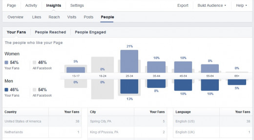 FB Page Demographics - Age, Location etc