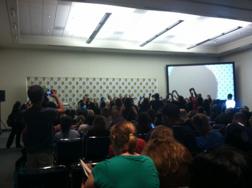Typical crowd for a smaller talk at Comic Con
