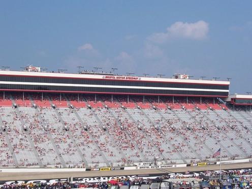 Grandstand at the Bristol Motor Speedway. Located at 151 Speedway Blvd, Bristol TN.