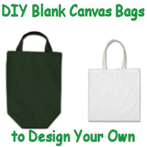 Plain blank canvas bags.