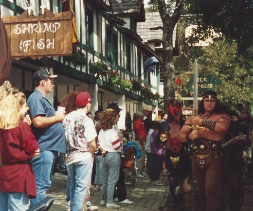 Barbarians parading though the park at the Texas Renaissance Festival when I was there.