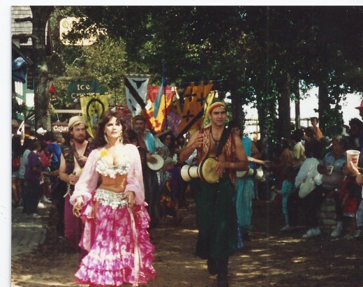 Photo of participants in the Grand March Parade held at noon.