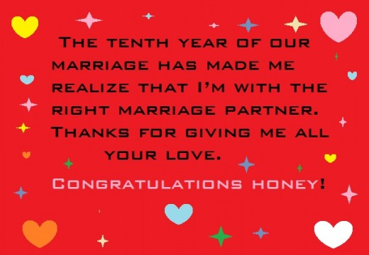 ... 10th Year Wedding Anniversary Wishes for Husband, Wife and Friend