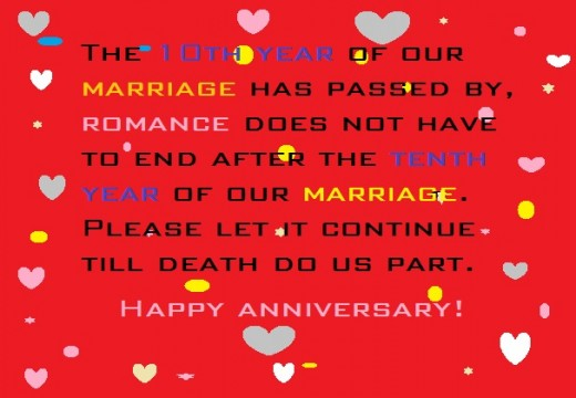 Happy 10th Year Wedding Anniversary Wishes And Quotes