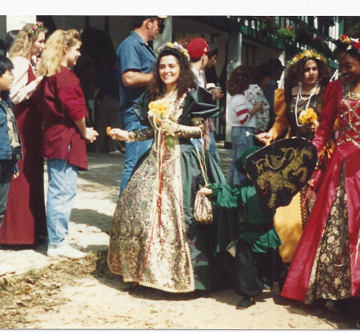 People and costumes at the Texas Renaissance Festival on one of my trips there.