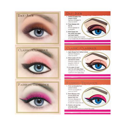 a visual demonstration of how to wear the a la mode palette on your eyes.