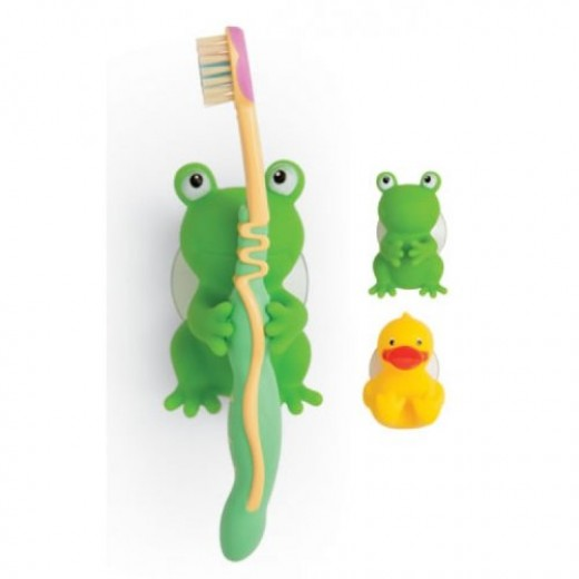 Mommys Helper Toothbrush Holders, Froggie and Friend by Mommy's Helper