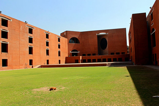 A view of IIM Ahmedabad Campus