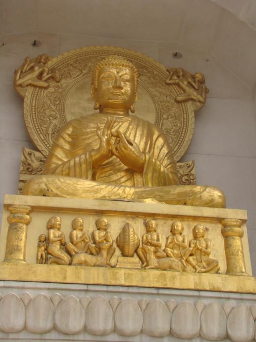 Buddha Sculpture Shanti Stupa Rajgir