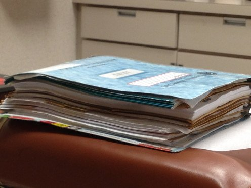 Dave's Radiation Book. Some patients have more than one book. Why? Because due to new treatments becoming available, patients are living longer.