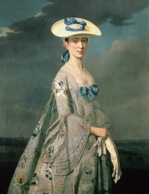 Lovely eighteenth-century gown and hat