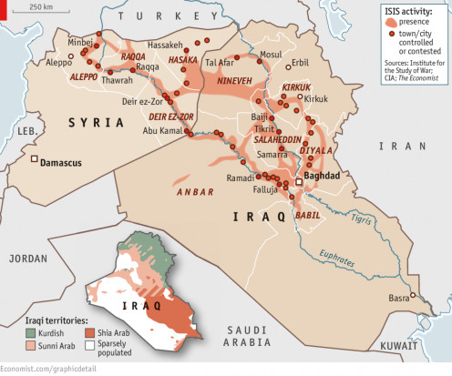 ISIS movement in Iraq and Syria.