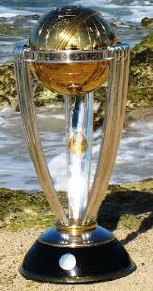 The International Cricket Council (ICC) trophy for world cricket champions