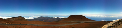Pan from the top of Haleakala