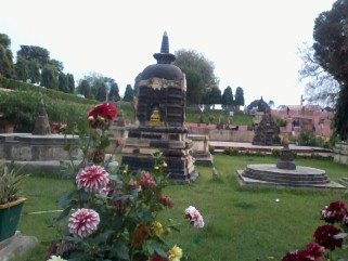 Stupas In The Gardens Of Mahabodhi Temple