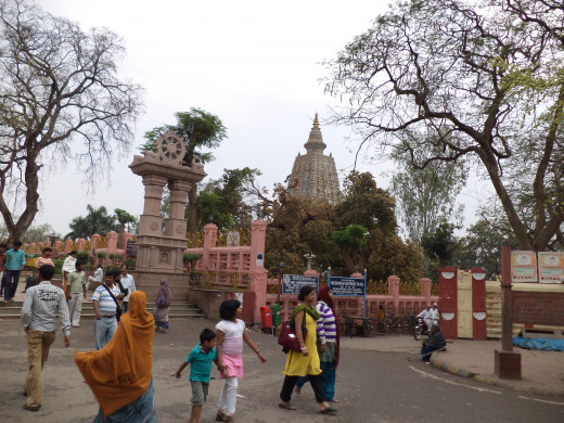 Mahabodhi Temple From Outside