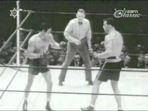 Max Baer knocked out the Italian Giant Primo Carnera in 11 rounds to win the heavyweight championship.