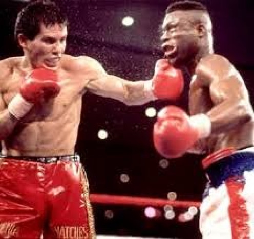 Julio Cesar Chavez was down on the scorecards when he knocked out Meldrick Taylor with seconds to go in the 12th and final round.