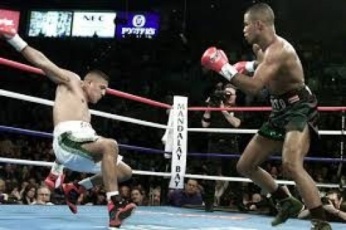 Felix Trinidad unified the Jr. Middleweight titles by stopping Fernando Vargas in the 12th heat.