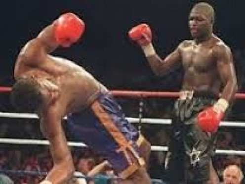 James Toney put Prince Charles Williams down and out with a perfect right hand in the 12th and final stanza.