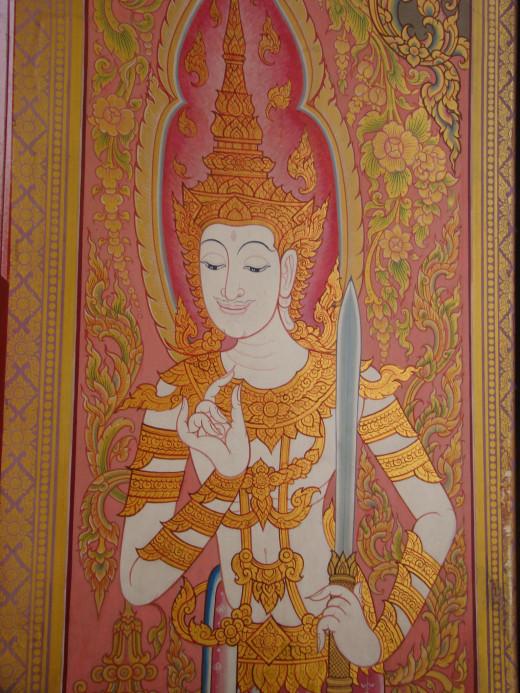 Mural In The Thai Temple, Bodh Gaya