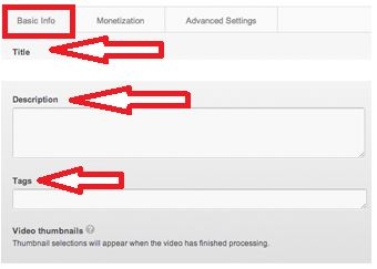 YouTube SEO Settings