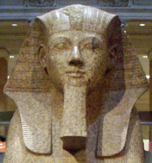 """Hatshepsut-CollosalGraniteSphinx02 MetropolitanMuseum"""
