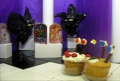 Halloween Bats and Cupcakes At the Festival