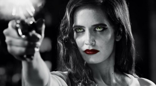 "Ava (Eva Green) shows her true colors in ""Sin City: A Dame to Kill For""."