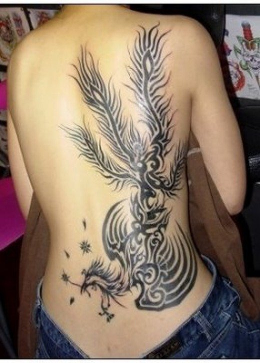 Chinese Phoenix Tattoo. The phoenix (aka firebird) is a Chinese mythological