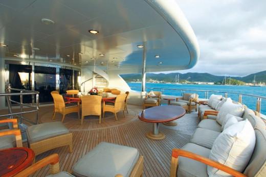Deck of a luxury yacht. Courtesy NYM