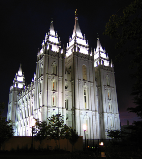 The Salt Lake Mormon Temple, is the most famous of all LDS Temples.