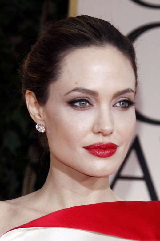 Angelina Jolie and her plump lips
