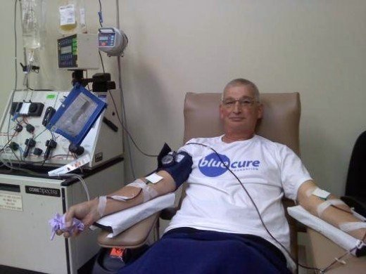 Provenge Therapy - Dave Ligler during his first (out of 3) Leukapheresis