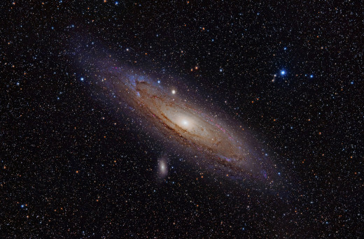 The Andromeda Galaxy, our nearest intergalactic neighbor, is 2.6 million light years away... and closing! We've got 4.5 billion years to get ready.