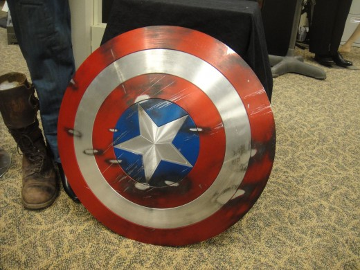 Captain America's Shield displayed in prop auction