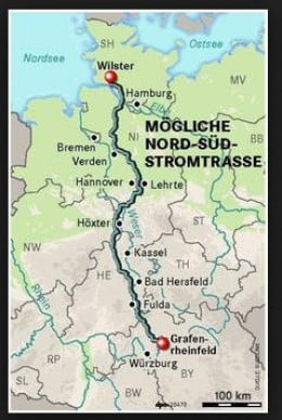 The Stromautobahn (the electricity highway)