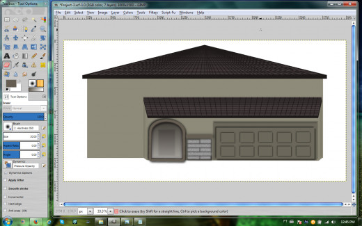 Garage and front door completed