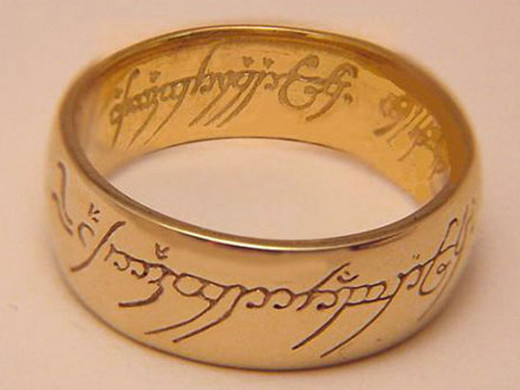 Custom made Lord of the Rings gold  One Ring in 10K and 18K gold.