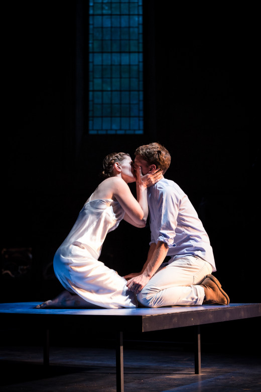 Dylan Kennedy and Bryony Tebbutt star in 'Romeo & Juliet' at Temple Church