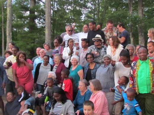 All races gathered together for this special cookout, after the brothers and sisters  worked together so diligently in the ministry together in New Hampshire. The next day some of the Witnesses returned to Pennsylvania.