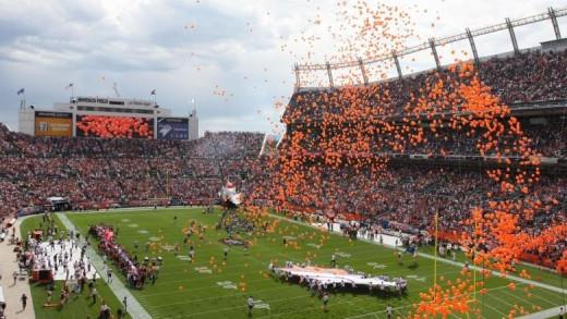 Denver Broncos Game in Fall