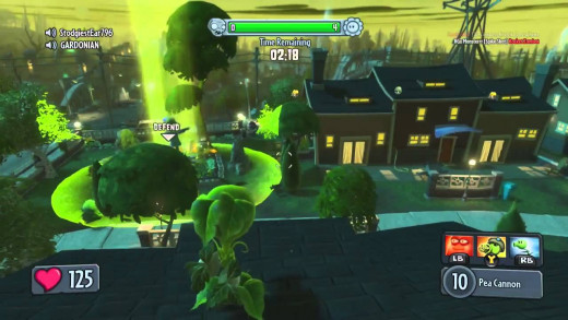 The Plants are no pansies when it comes to defensive play and fare well in Vanquish mode, the game's own spin on Deathmatch.